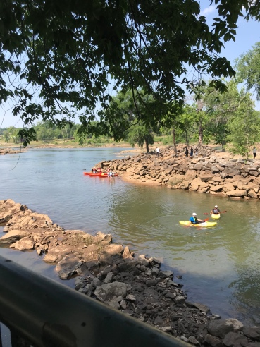 Kayakers in the Chattahoochee River